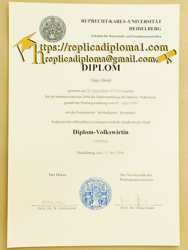 Why Do Replica Diplomas of Ruprecht Karls Universit