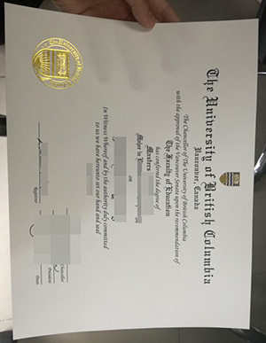 Buy University of British Columbia fake diploma in