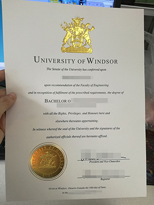 Buy University of Windsor degree certificate online