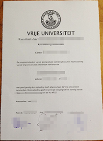 How to Buy a Fake VU Amsterdam Degree Online Within