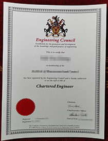 Get a fake certificate of Engineering Council Chart