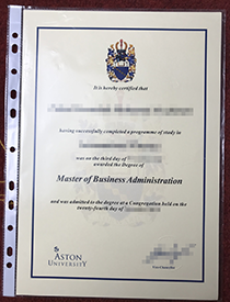 Buy fake diploma of Aston University