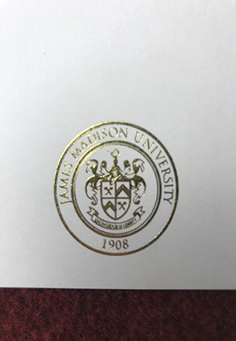 How Does a Real Golden Seal of James Madison University diplo