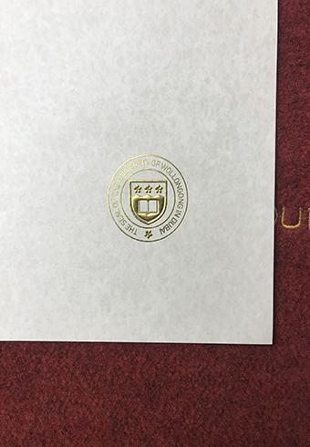 The Golden Seal of University of Wollongong in Dubai(UOWD) di