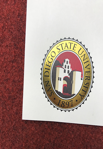 How Does A Real Golden Seal of San Diego State University(SDS