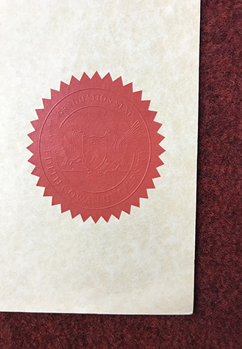 How Does a Real Seal of Edith Cowan University(ECU) Diploma L