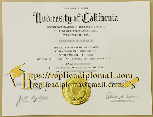 replica UCLA degree