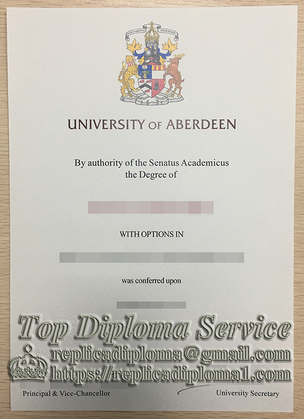 University of Aberdeen degree, University of Aberdeen diploma