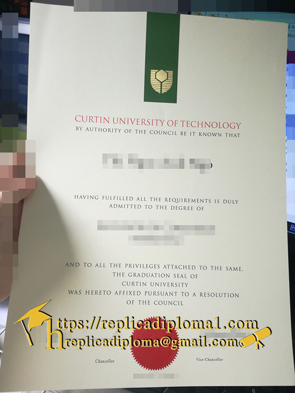 degree of Curtin University of Technology