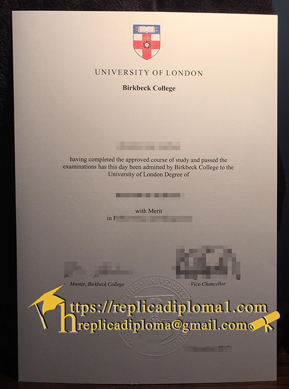 degree of University of London Birkbeck College
