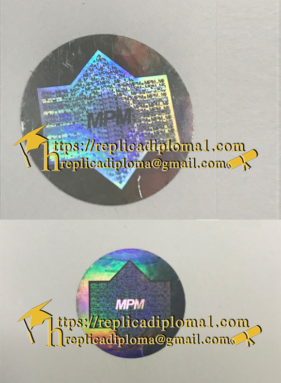 what is a mpm certificate hologram