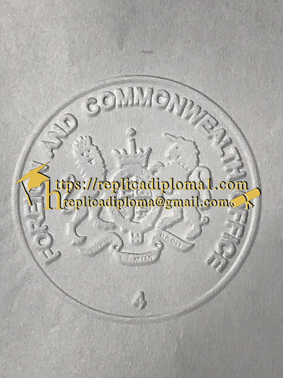 raised seal on the fake certificate