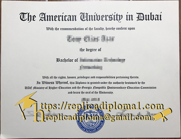 American University in Dubai degree