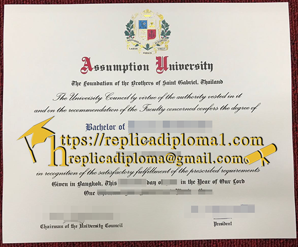 Assumption University degree certificate