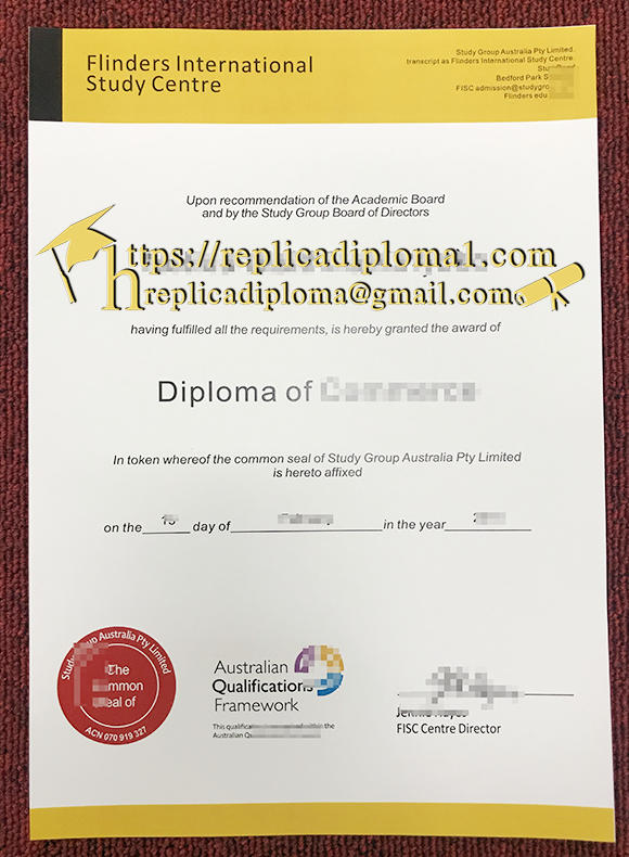 FISC diploma free sample of Flinders International Study Centre diploma from replicadiploma1.com