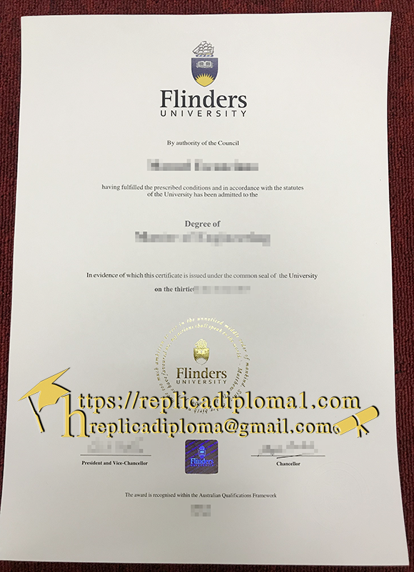 sample of flinders university diploma from replicadiploma1.com