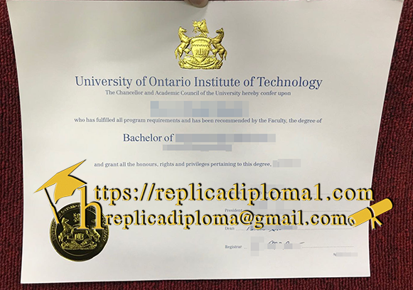 free sample of UOIT degree from replicadiploma1.com