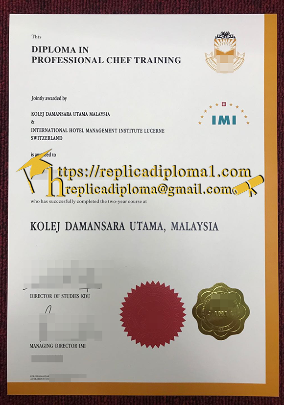 IMI diploma certificate