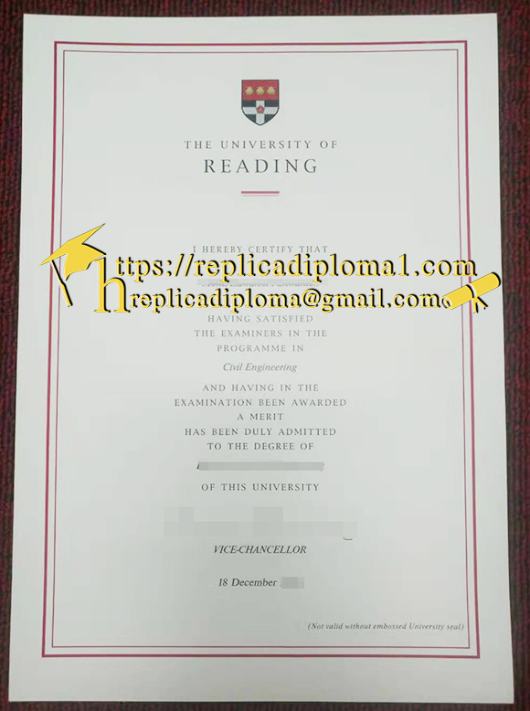 University of Reading diploma from replicadiploma1.com