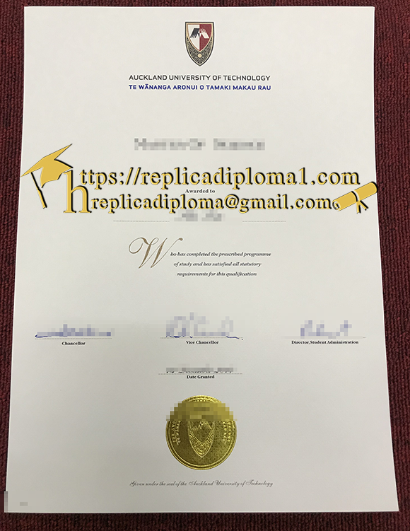 sample of AUT diploma from replicadiploma1.com