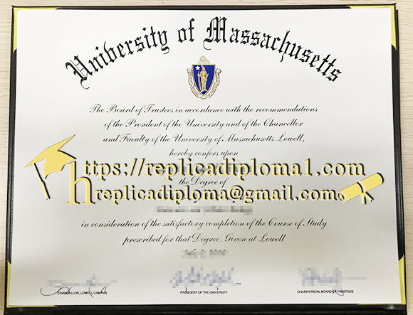 university of massachussets degree sample from replicadiploma1.com