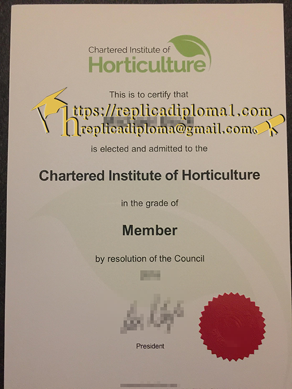 chaatered institute of hortuculture cetificate