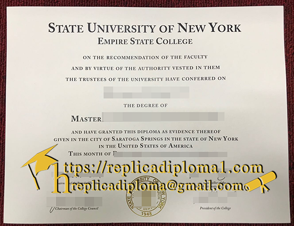 degree of SUNY empire state college