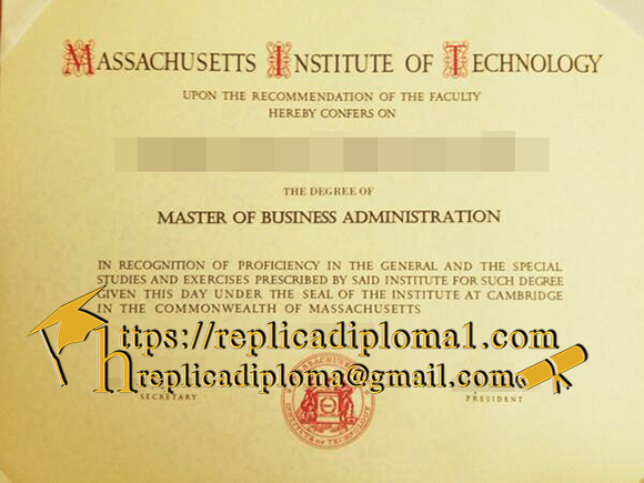 MIT diploma sample from replicadiploma1.com