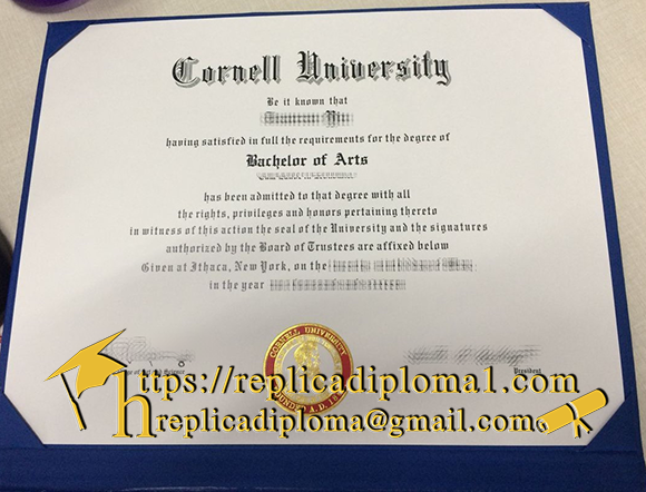 free sample of Cornell University diploma from replicadiploma1.com