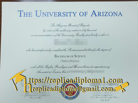 fake university of arizona diploma