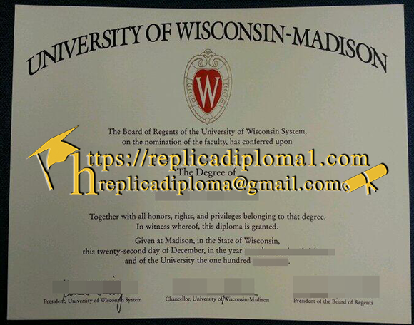 University of Wisconsin Madison diploma