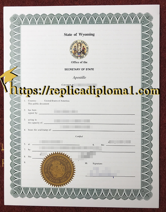 state of wyoming apostille certificate