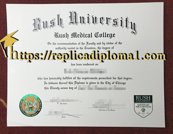 rush university rush medical college diploma